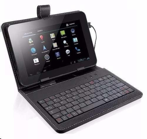 tablet função celular 2 chips android 5.1 + capa c/ teclado
