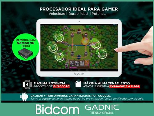 tablet gadnic gamer 10 pulgadas dual chip celular 4g android 2gb 32gb