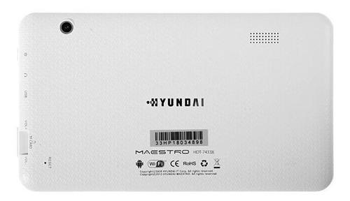 tablet hyundai 7 pulgadas apta para chicos 8gb blanca