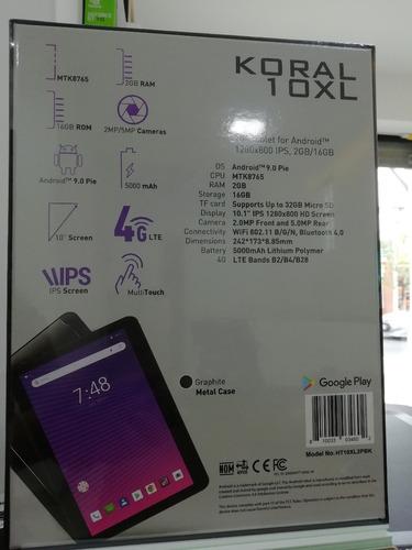 tablet hyundai koral 10xl 4g lte 64bits quad core 2gb+16gb
