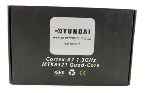 tablet hyundai quad-core maestro tela 9 polegadas 1gb de ram 8gb de memória interna sistema android 6.0 hdt-9421g a10661