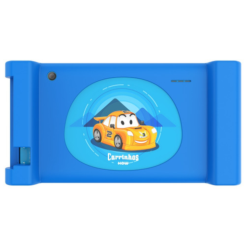 tablet infantil carrinhos ht704 quad-core 8gb wi-fi +capa