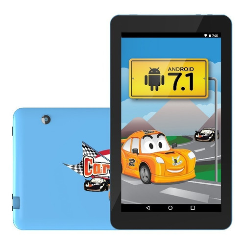 tablet infantil carrinhos ht705 android 7.1 8gb wi-fi +capa