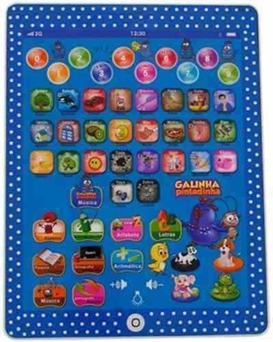 tablet infantil educativo 24 + celular galinha pintadinha !!