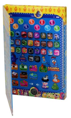 tablet infantil educativo galinha pintadinha fretegratis24cm