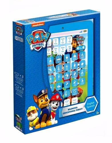 tablet infantil educativo patrulha canina azul brinquedo