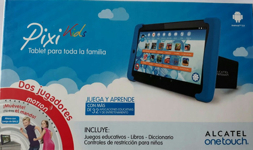 tablet infantil pixi kids 8053 alcatel  wi-fi 8gb preto/azul