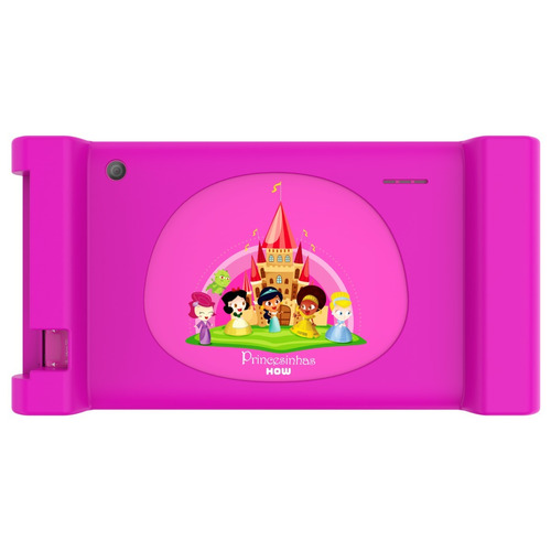 tablet infantil princesinha ht704 quad-core 8gb wi-fi +capa