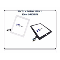 Mica Tactil Ipad 2 + Boton Home + Adhesivo 100% Original