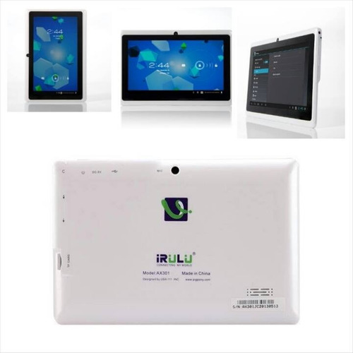 tablet irulu  doble cam android 4.2.2