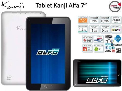 tablet kanji alfa / intel quad core sofia 1,33 ghz disco 8gb