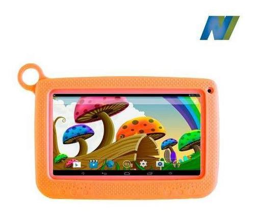 tablet kid, 8gb, 1gb, doble cámara 2mpx, case