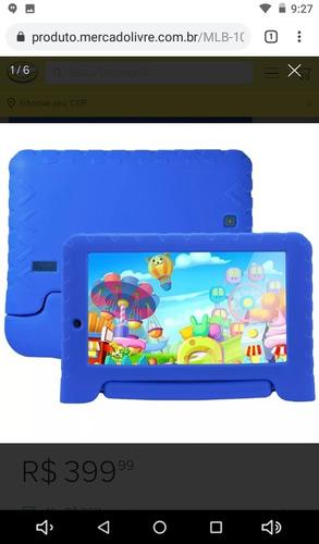 tablet kid pad plus multilaser android 7  1gb ram nf-gart.