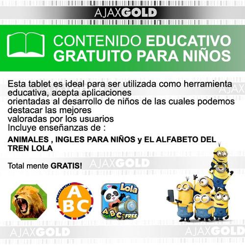 tablet kids 7 para chicos android niños + funda resistente