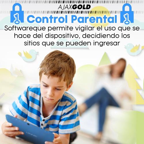 tablet kids 7 para niños control parental + funda p/ golpes