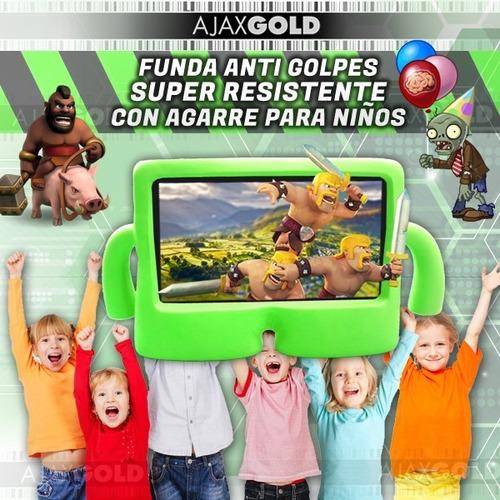tablet kids niños chicos android hd 4g hdmi + funda silicona