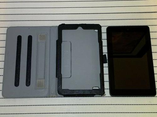 tablet kindle fire 7, 5ta generación, con carcasa. no prende