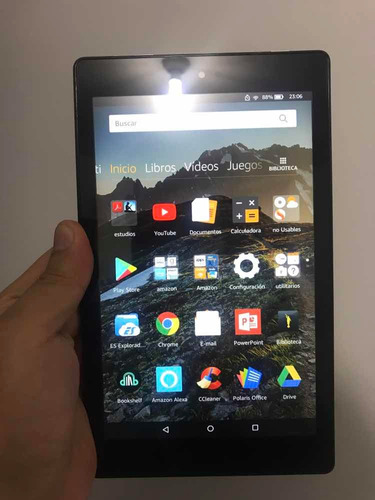 tablet kindle fire hd 8 - remato + case 1.5 ram