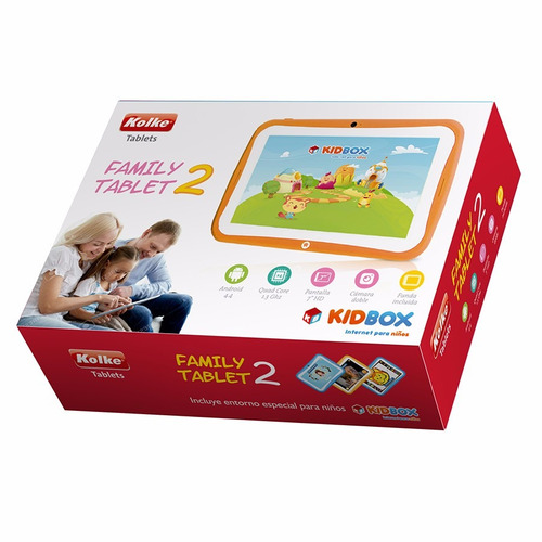 tablet kolke family 7'' kidbox control parental loi chile