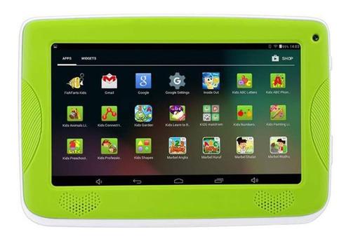 tablet krono kids (wifi, 1gb ram, 2 cámaras, 16gb) verde