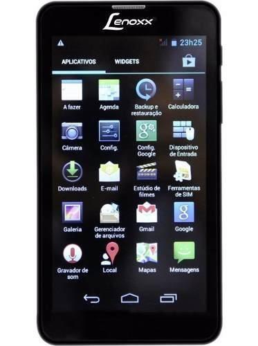tablet lenoxx tp6000 preto 3g, 4gb, wi-fi, tela 6'', android