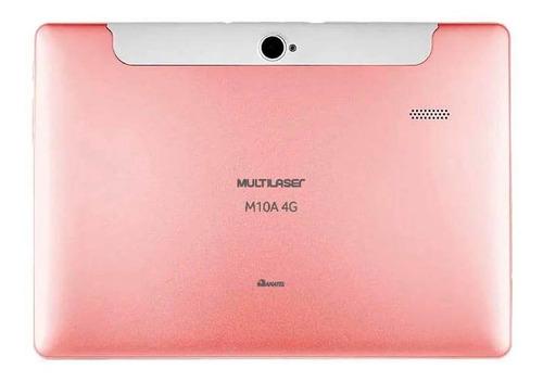 tablet m10 4g golden rose quad core android oreo dual câmera