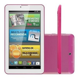 Tablet M7i-3g Quad 8gb 7  Gps Rosa Multilaser - Nb246