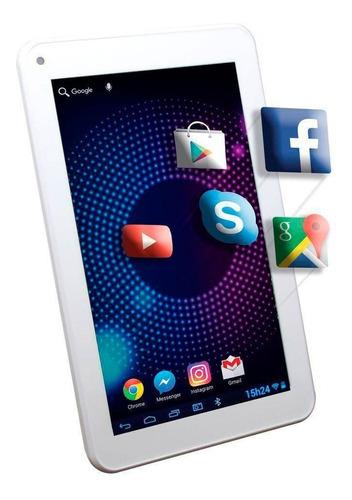 tablet maxprint dz7bt plus android 6.0 tela 7 8gb branco