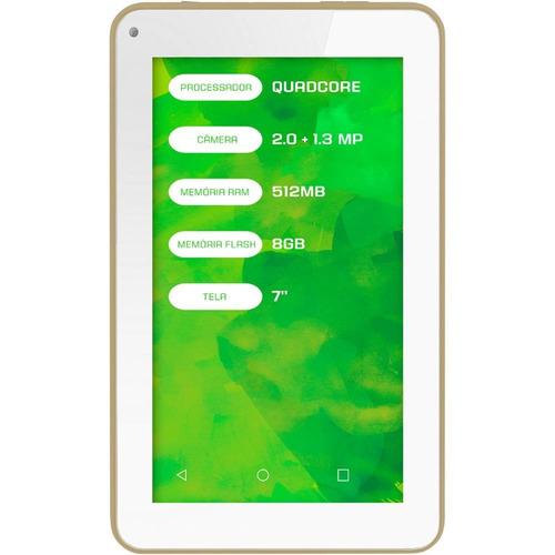 tablet mirage quadcore android 4.4 tela 7  512mb dual câmera