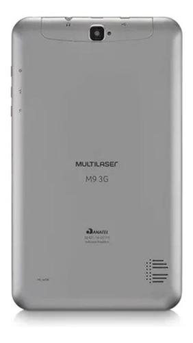 tablet multilaser 9'' m9 3g quad core 8gb 1gb 2 chip prata