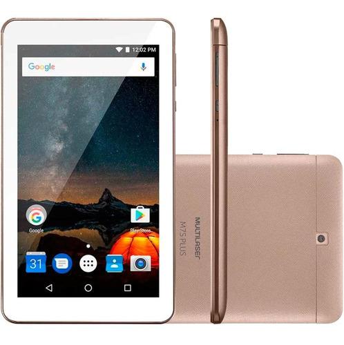 tablet multilaser m7s plus 7  quad-core 8gb dourado - nb276