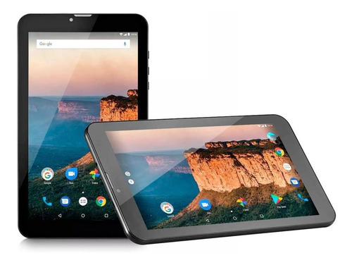 tablet multilaser m9-3g quad core 1gb/8gb preto - nb247
