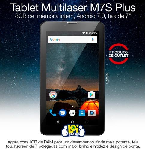 tablet multilaser nb273 m7 plus quad core 1gb ram outlet