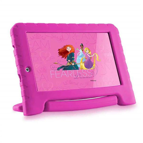 tablet multilaser princesas android quadcore 8g 7pol rosa