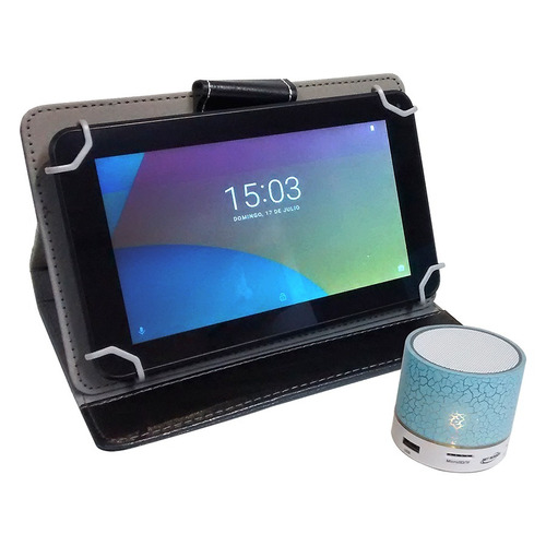 tablet net runner 7  q.core 8gb + funda + parlante bt 87-300