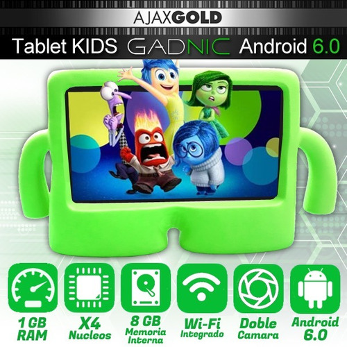 tablet niños kids chicos android hd 8gb + funda protectora