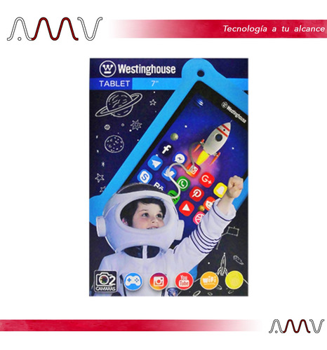 tablet para niños westinghouse w7t 7 16gb wifi android amv