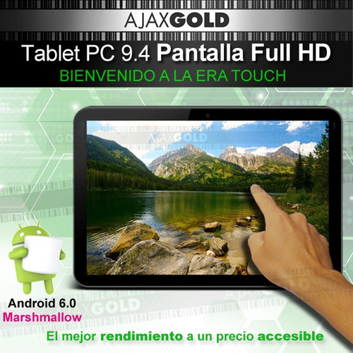 tablet pc 10 android quad core 4g full hd + funda+ templado