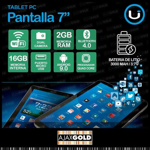 tablet pc android wifi 4g full hd 16gb netbook + funda con teclado + film