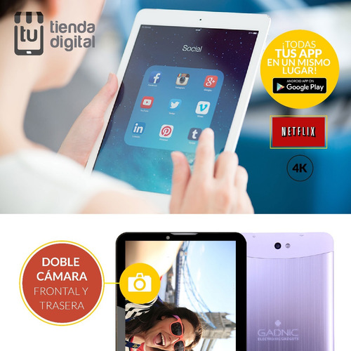tablet pc gadnic indus 7 android 3g cel gps + auricular bt