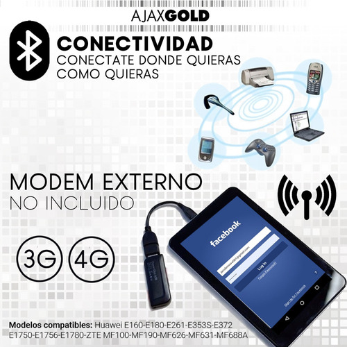 tablet pc multitouch 7 wifi hd gps + funda protectora kids