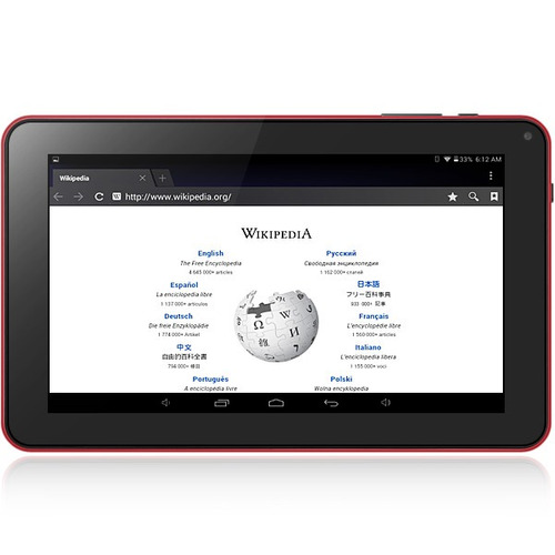 tablet pc wvga de 9 in, con android 4.4, 512mb ram 8gb rom
