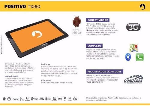 tablet positivo t1060 16gb wi-fi gps 3g e ligação (lacrado)