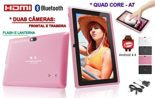 tablet powerpack 7307 - 7  - 8gb + pelicula - pronta entrega