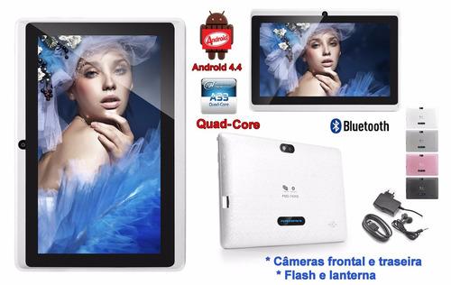 tablet quad core 1.3 7 polegadas android 4.4 2 câmeras