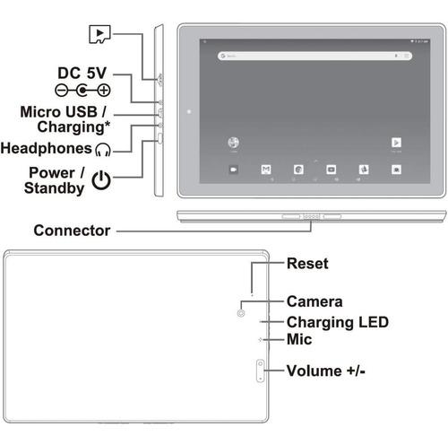 tablet rca viking pro tablet 10 pulgadas, 32 gb android