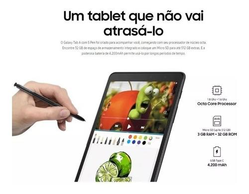 tablet samsung galaxy tab a+ sm-p205 lte 1 sim 8.0 32gb/3gb novo