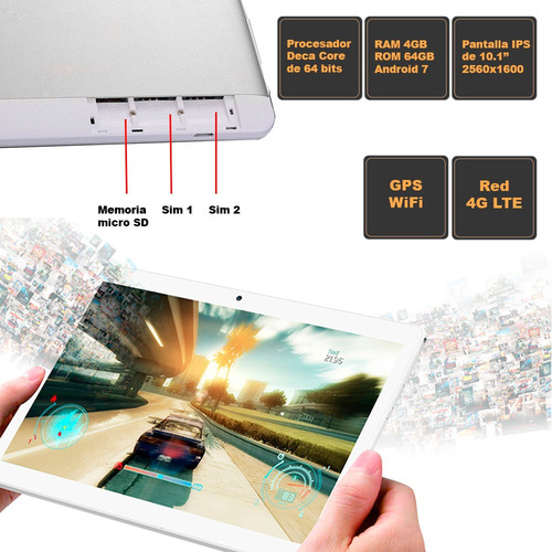 tablet vak 101 decacore 10  64gb 2 sims 4g android 8mp turbo