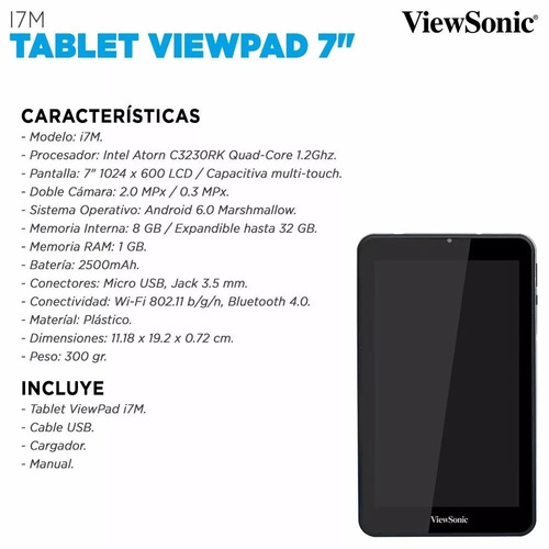 tablet view pad