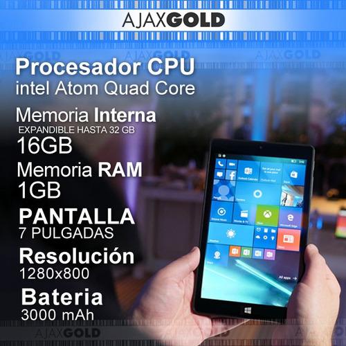 tablet windows 10 con teclado hd 2 en 1 intel 32gb hdmi 3g